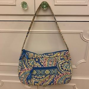 Vera Bradley Blue Paisley Shoulder Bag Purse